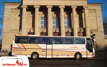 Autobus na 50 osób, dużo miejsca na nogi