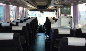 Wnętrze bardzo komfortowego autokaru - MAN